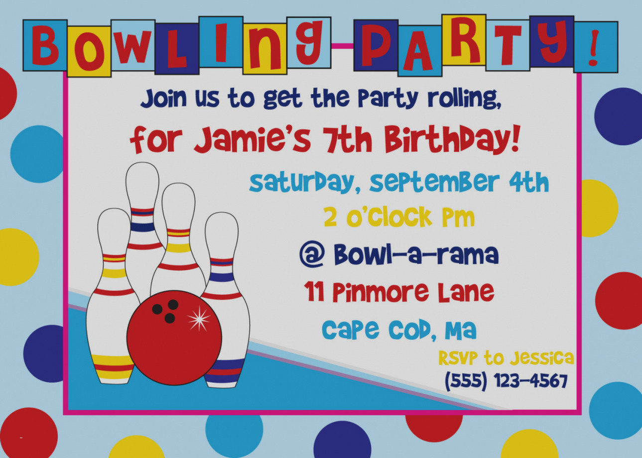 Th Birthday Party Invitations Lovely Best Free Printable Bowling - Free Printable Bowling Birthday Party Invitations
