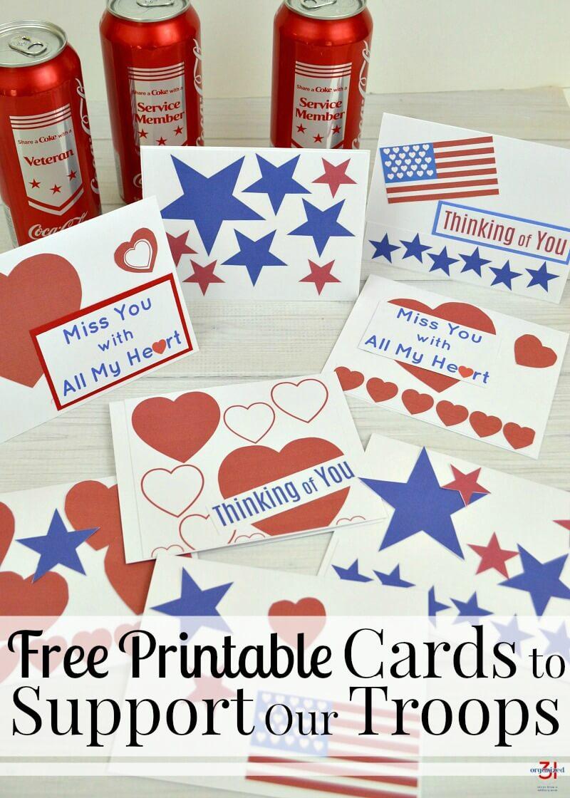 Thank A Veteran Cards Free Printable - Organized 31 - Military Thank You Cards Free Printable