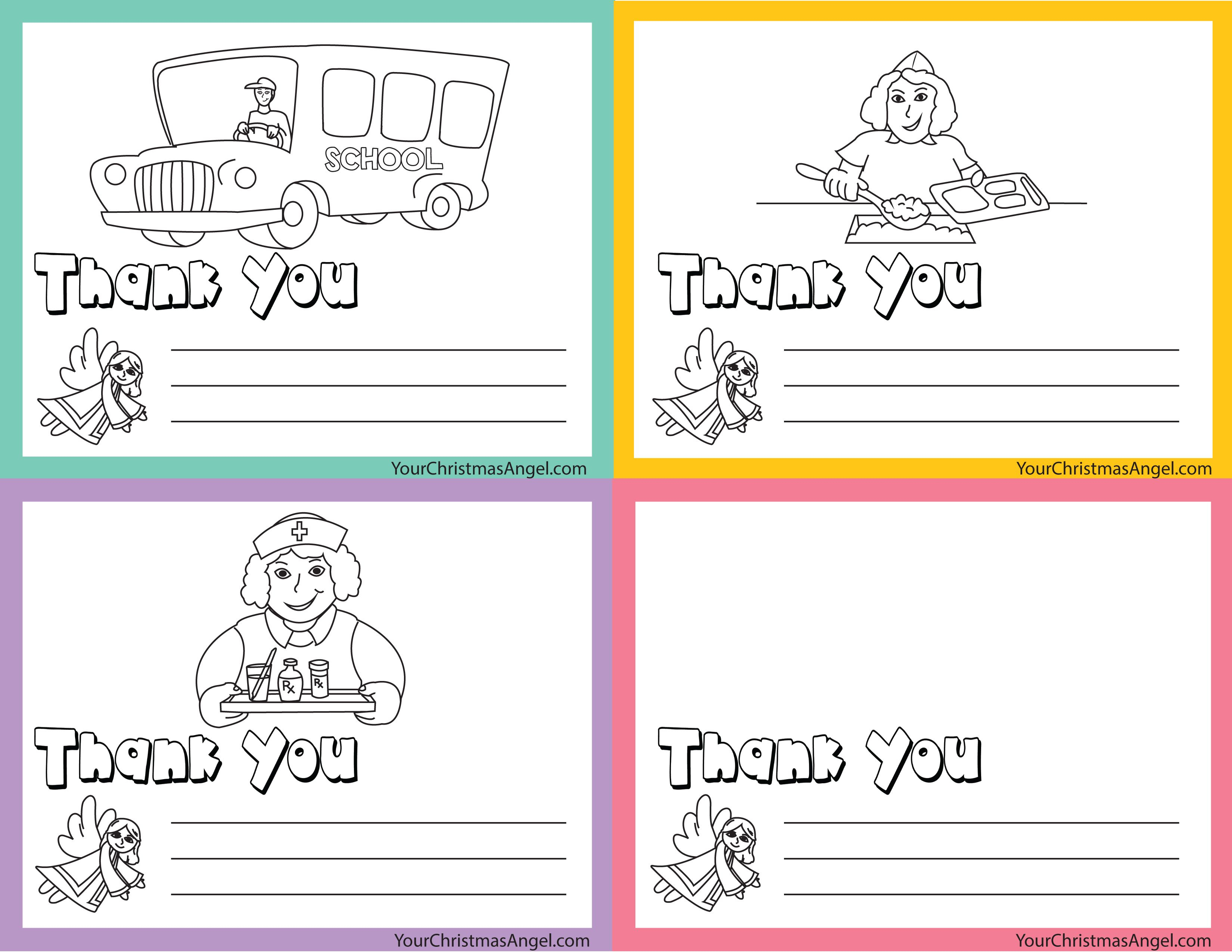 Thank You Cards For Those In Our School Systems!! Great For Teachers - Free Printable Volunteer Thank You Cards