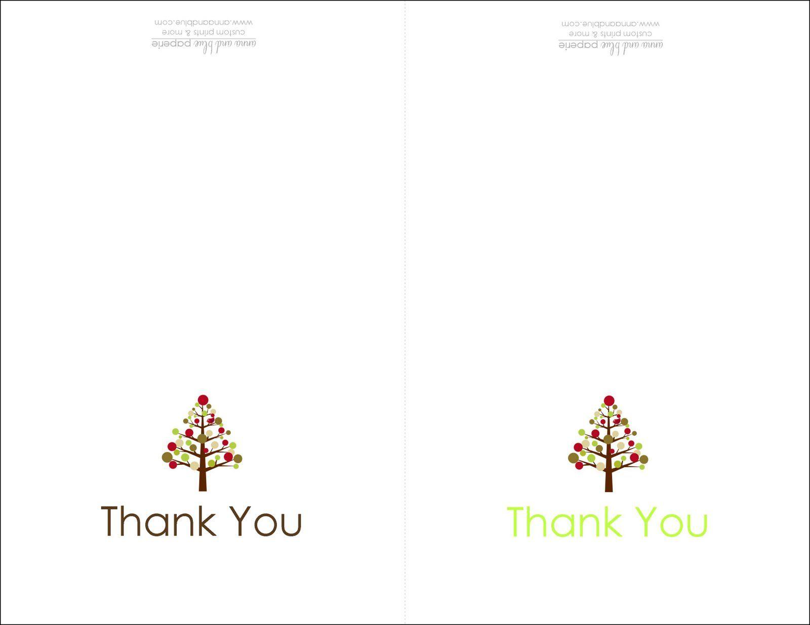 Thank You Cards Printable   Printable   Free Printable Christmas - Christmas Thank You Cards Printable Free