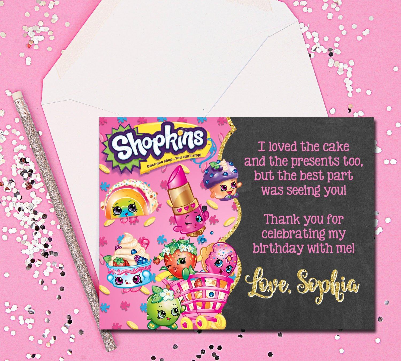 Thank You Cards Shopkins Thank You Cards Shopkins Thank You   Etsy - Free Printable Shopkins Thank You Cards
