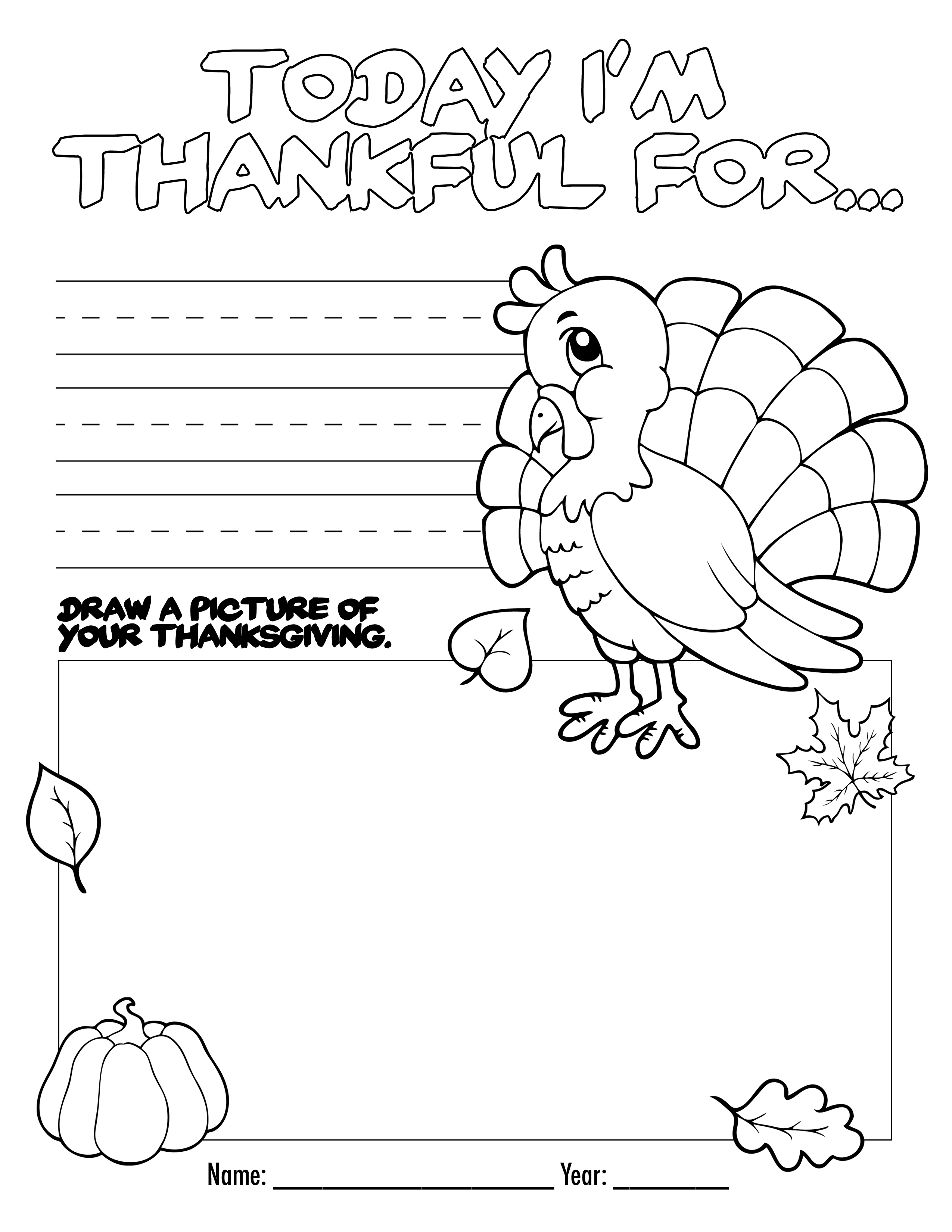 Thanksgiving Coloring Book Free Printable For The Kids! - Free Printable Thanksgiving Worksheets
