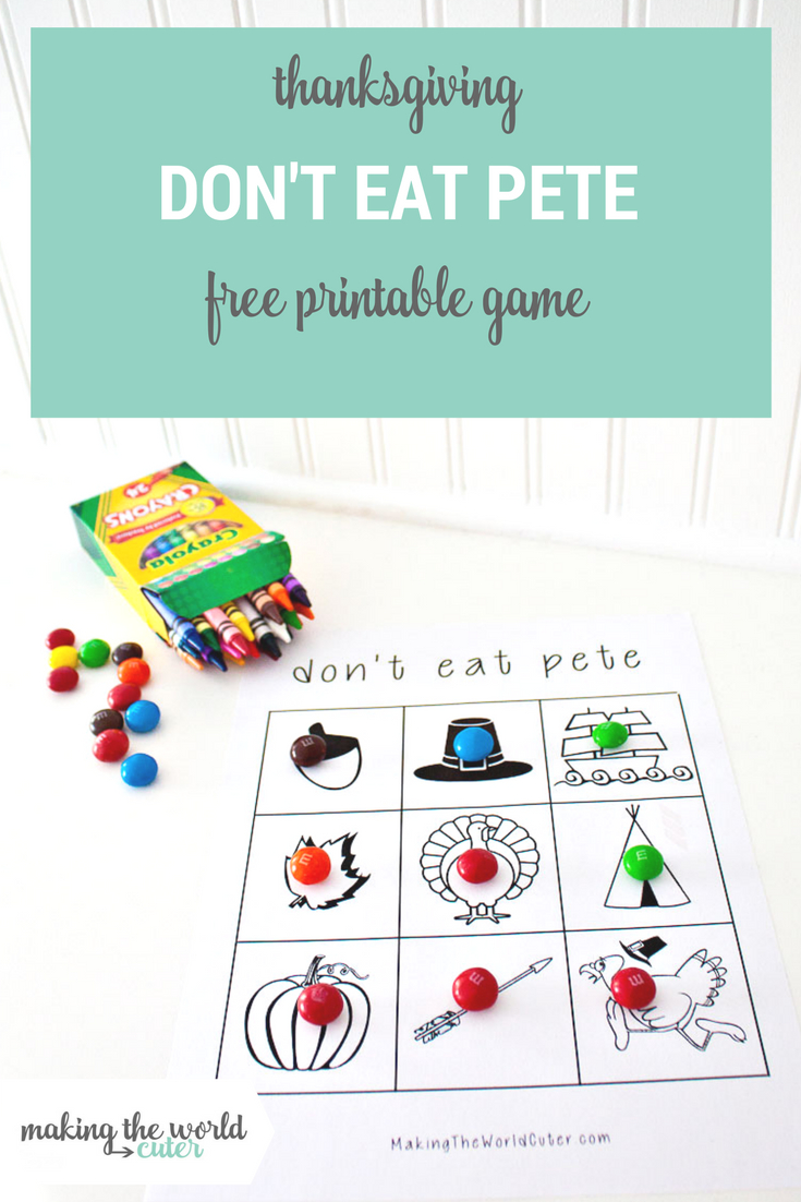 Thanksgiving Don't Eat Pete Coloring Page - Don T Eat Pete Free Printable