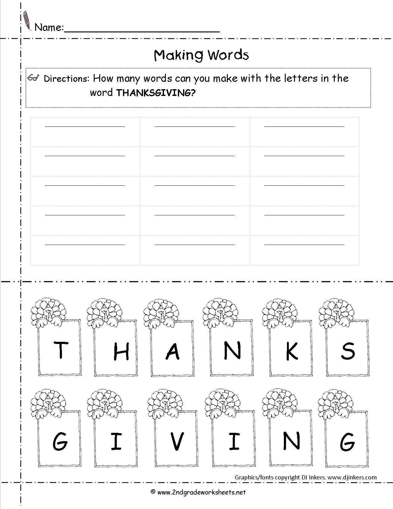 Thanksgiving Printouts From The Teacher's Guide - Free Printable Thanksgiving Writing Paper