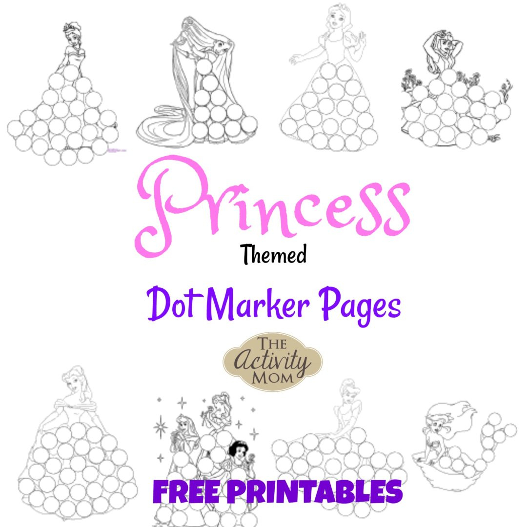 The Activity Mom - Princess Dot Marker Pages (Printable) - The - Do A Dot Art Pages Free Printable