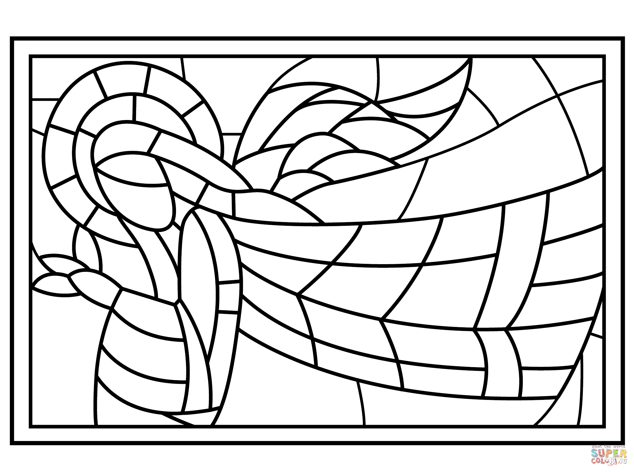 The Ascension Stained Glass Coloring Page | Free Printable - Free Printable Religious Stained Glass Patterns