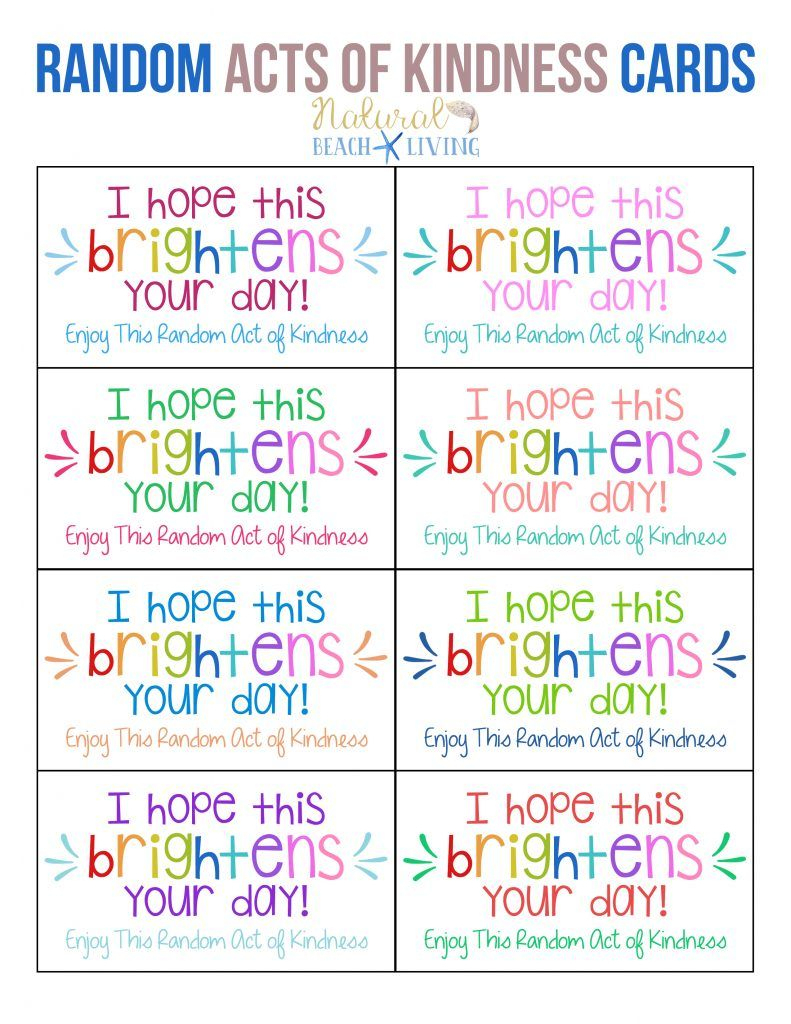The Best Random Acts Of Kindness Printable Cards Free | Parenting - Free Printable Kindness Cards
