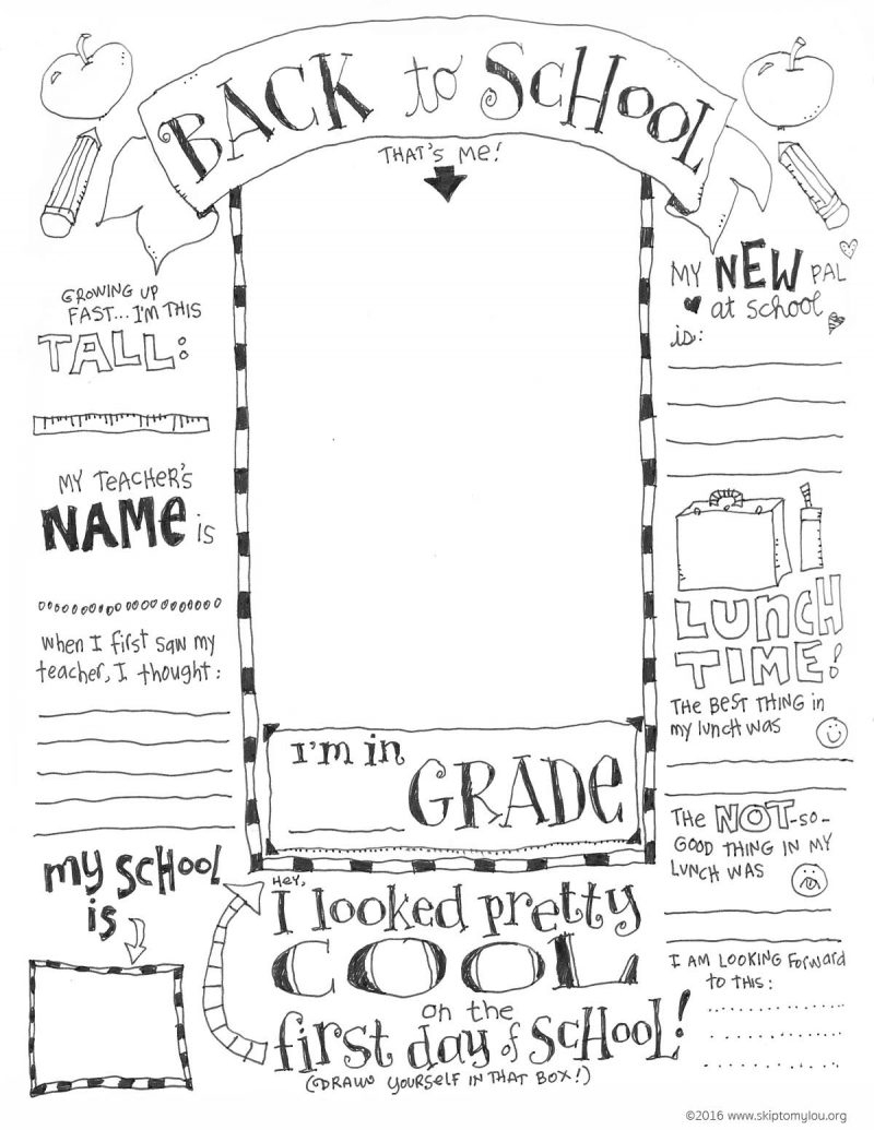 The Coolest Free Printable End Of School Coloring Page | Skip To My Lou - Free Printable First Day Of School Coloring Pages