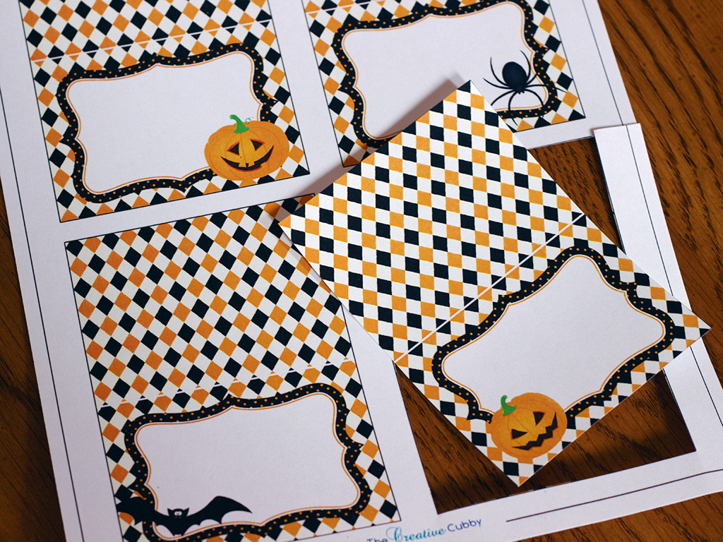 The Creative Cubby: Free Printable Halloween Cupcake Toppers - Free Printable Halloween Place Cards