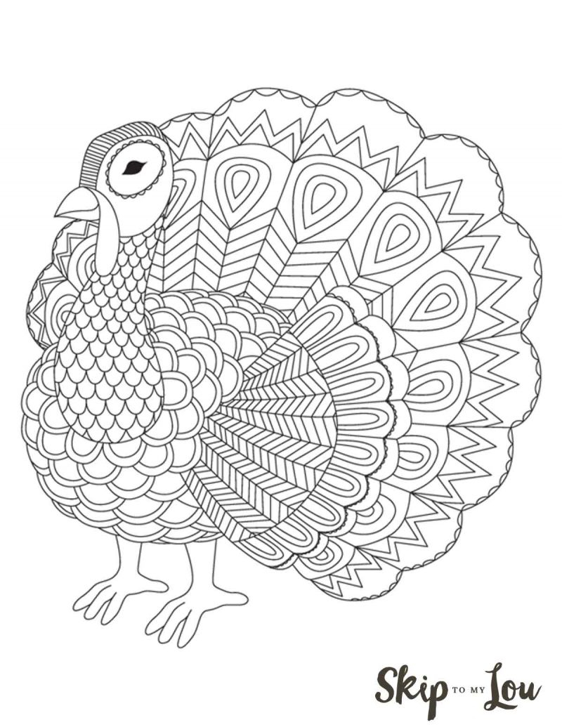 The Cutest Free Turkey Coloring Pages | Skip To My Lou - Free Printable Turkey