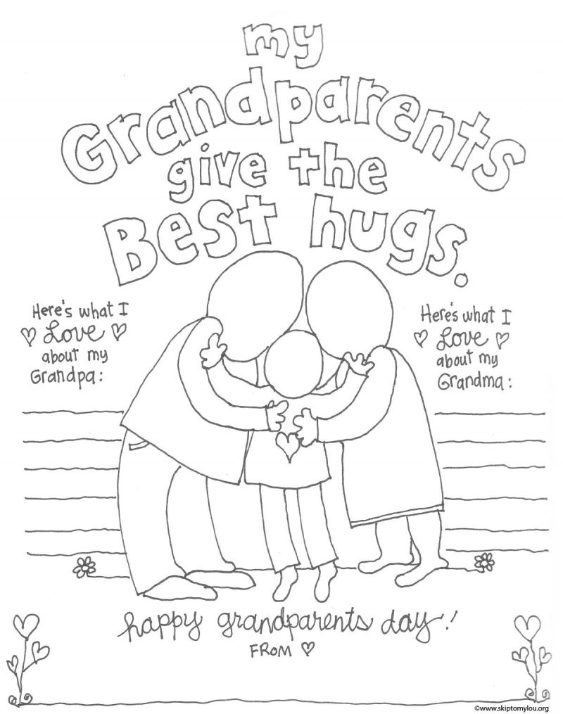 The Cutest Grandparents Day Coloring Pages | Skip To My Lou - Free Printable Fathers Day Coloring Pages For Grandpa