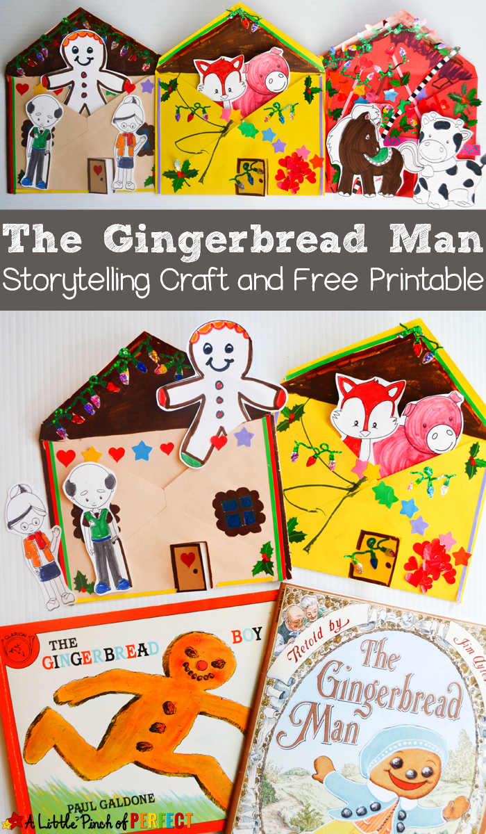 The Gingerbread Man Storytelling Craft And Free Printable - | Kids - Free Printable Gingerbread Man Activities