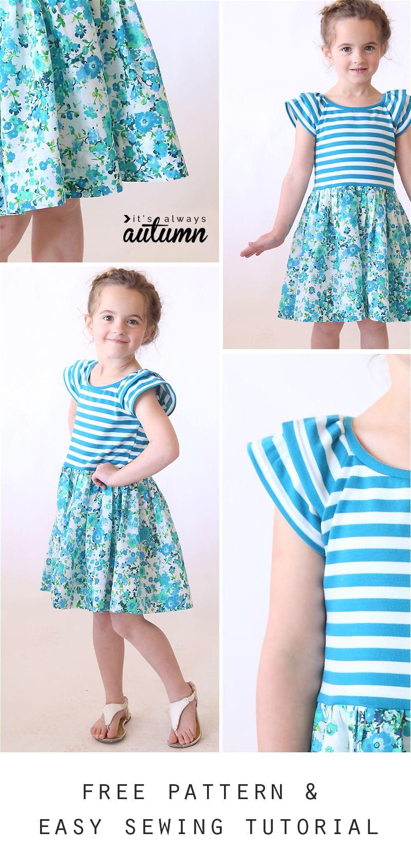 "The ""hello Spring"" Girls' Dress | Children's Patterns & Inspiration - Free Printable Toddler Dress Patterns"