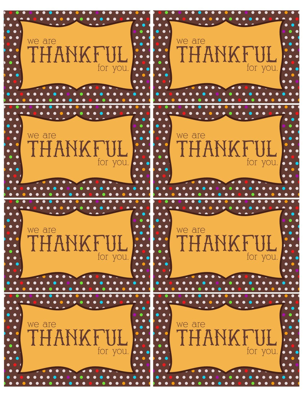 The Larson Lingo: Thankful For You {Free Printable} | Teacher - Thankful For You Free Printable Tags