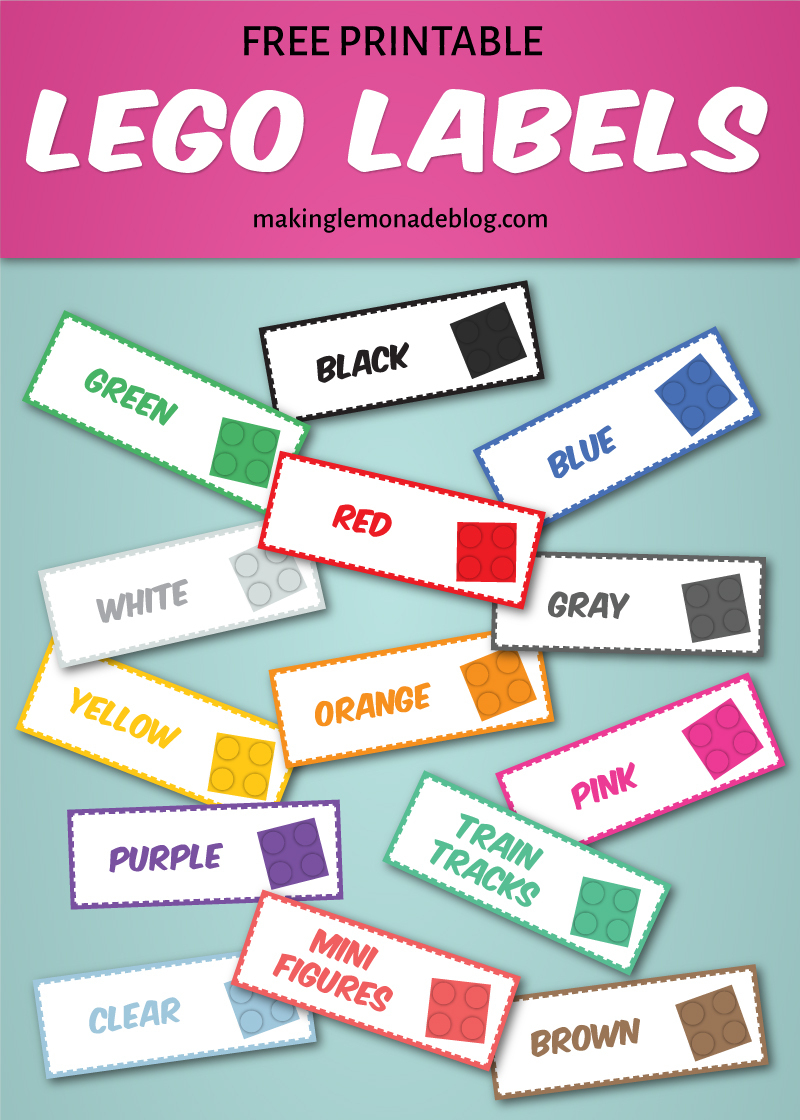 The Magical Lego Organizing Solution & Free Printable Labels - Free Printable Book Bin Labels