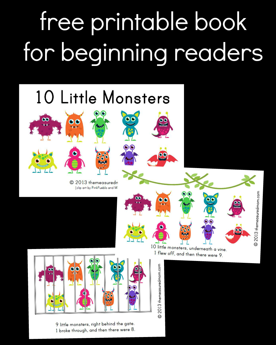 The Measured Mom - Free Printable Books For Beginning Readers
