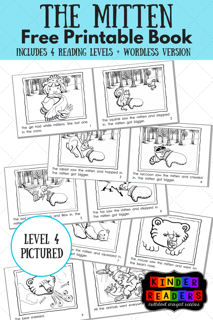 The Mitten Multilevel Kinderreaders Printable Book | A To Z Teacher - Free Printable Leveled Readers For Kindergarten