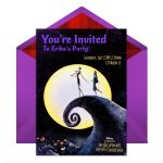 The Nightmare Before Christmas Party Online Invitations | Disney Family   Free Printable Nightmare Before Christmas Birthday Invitations