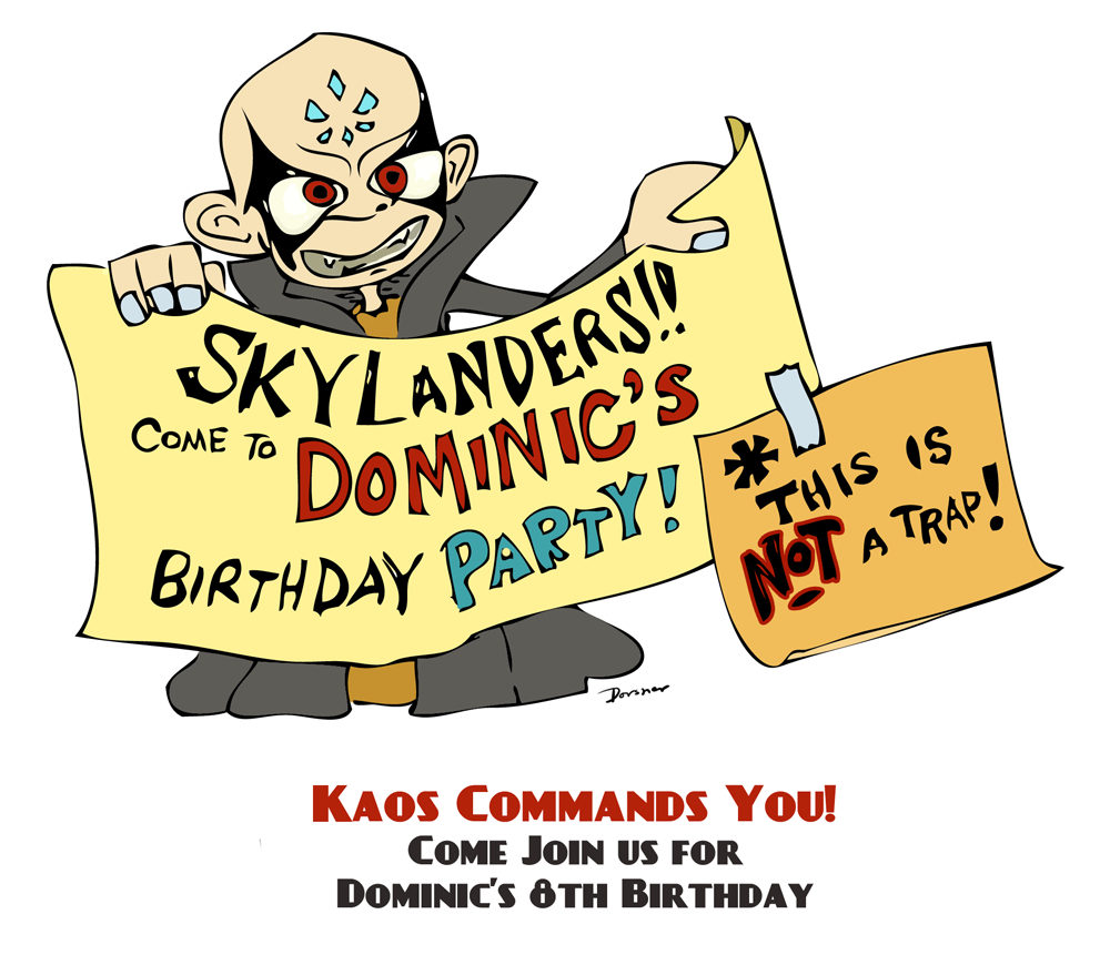 The Skylanders Party Highlights: The Invitation! (Free Printable - Free Printable Skylander Invitations