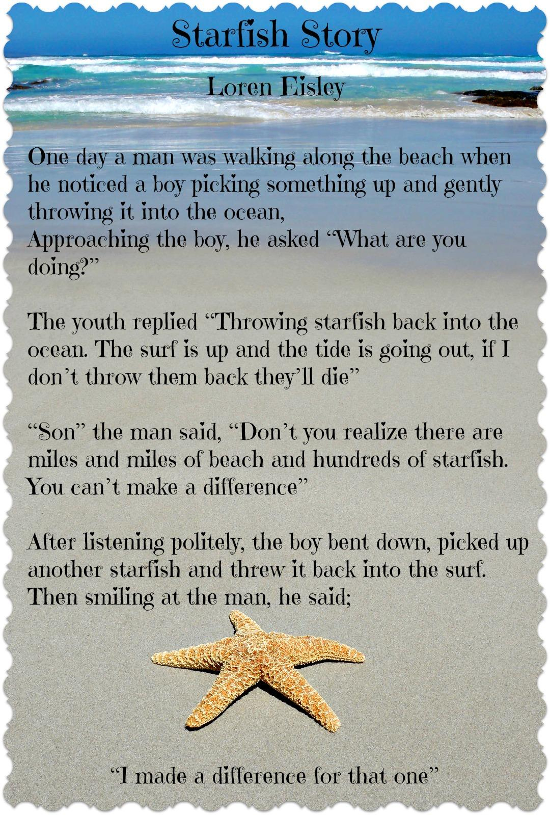 The Starfish Story Printable | Www.topsimages - Starfish Story Printable Free