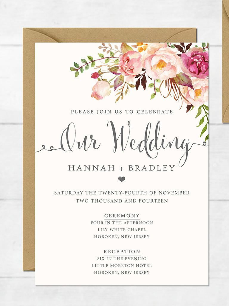 The Surprising Free Printable Wedding Invitation Templates For Word - Free Printable Wedding Invitation Templates For Word