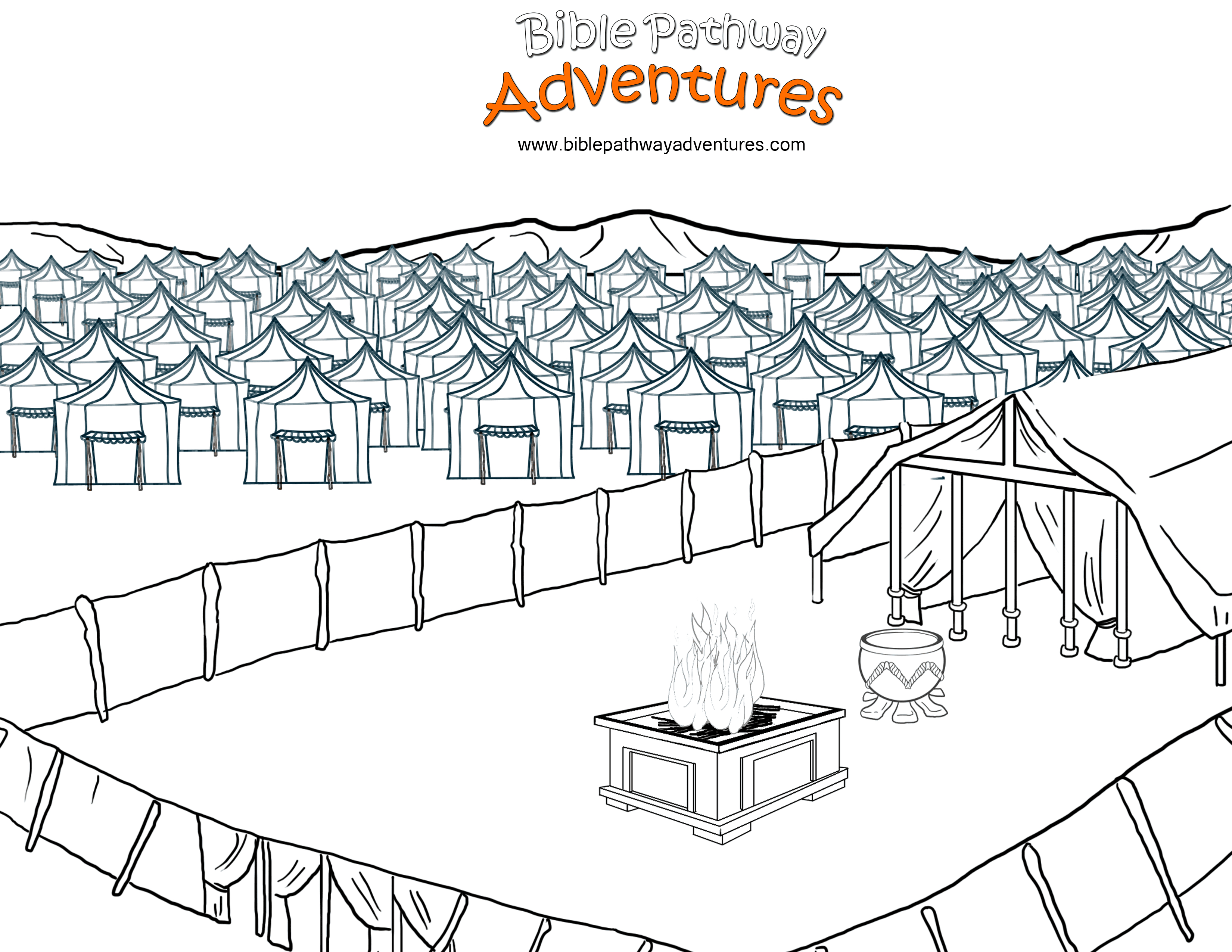 The Tabernacle – Bible Pathway Adventures - Free Printable Pictures Of The Tabernacle