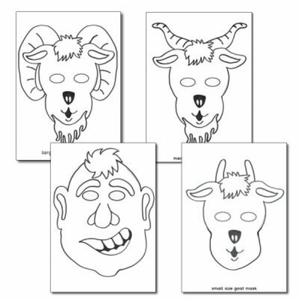 The Three Billy Goats Gruff Colouring In Masks | Free Printable With - Three Billy Goats Gruff Masks Printable Free