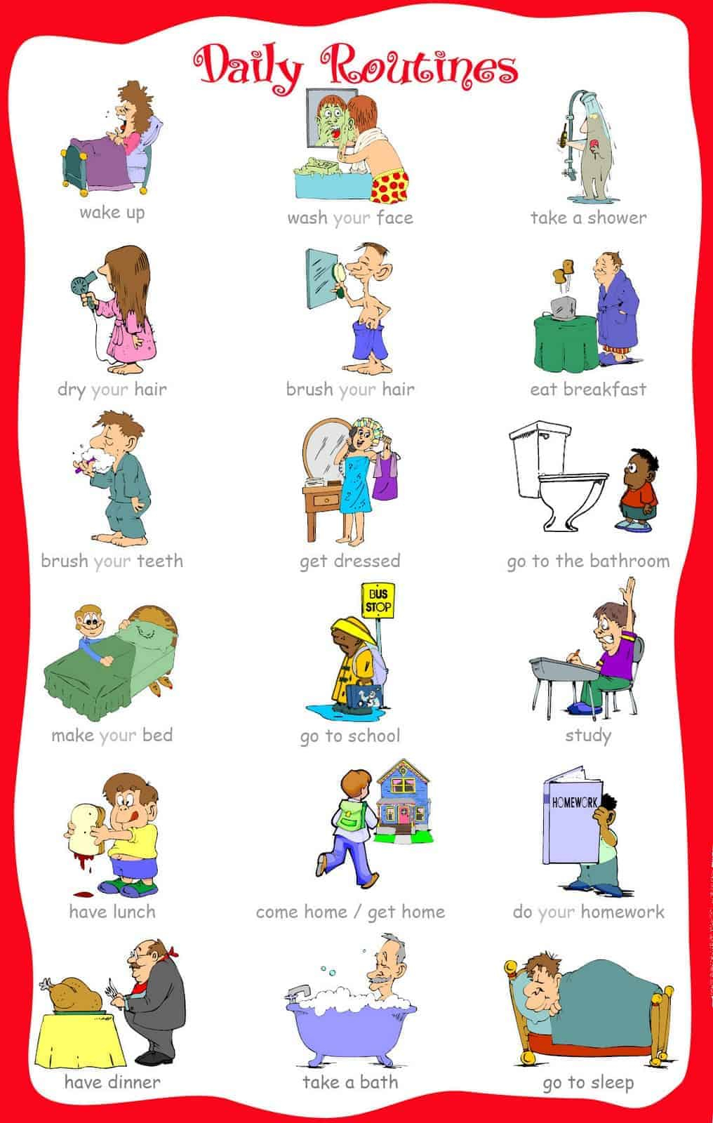 The Ultimate List Of Printable Visual Schedules. - Free Printable Visual Schedule For Preschool