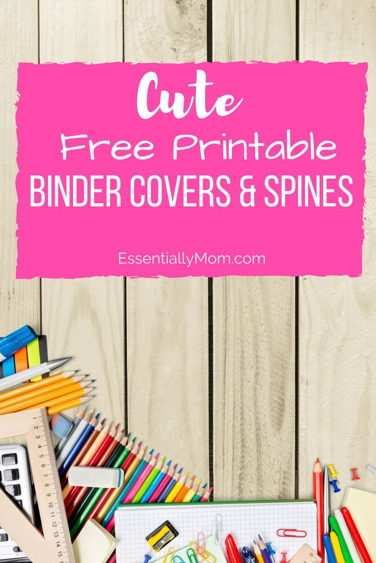 These Cute Free Printable Binder Cover & Spines Are The Perfect Back - Free Printable Binder Covers And Spines