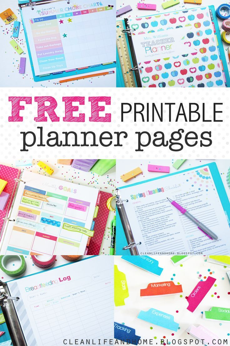 These Free Printable Planner Pages Are The Cutest! Fabulous - Free Printable Organizer 2017