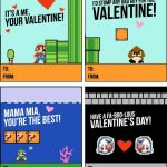 These Super Mario Valentines Printables Are Guarenteed To Be The   Free Printable School Valentines Cards