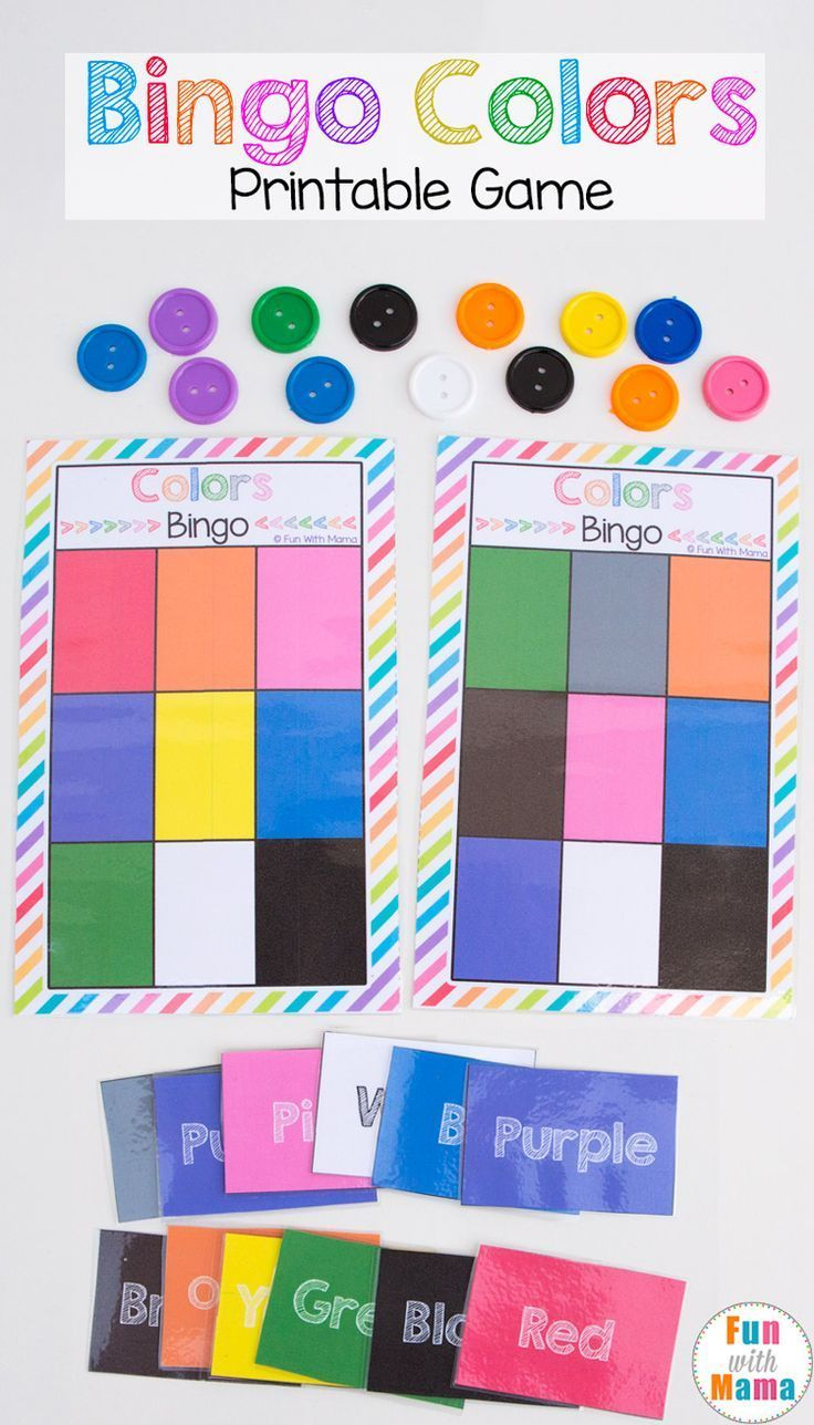 This Fun Free Printable Bingo Colors Game Template For Kids Is The - Free Printable Games For Toddlers