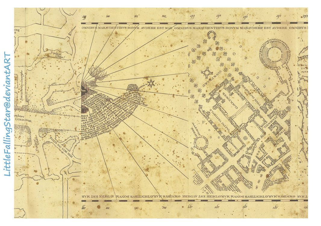 This Is A Copy Of The Marauders Map, 36 Scans Stitched Together In - Free Printable Marauders Map