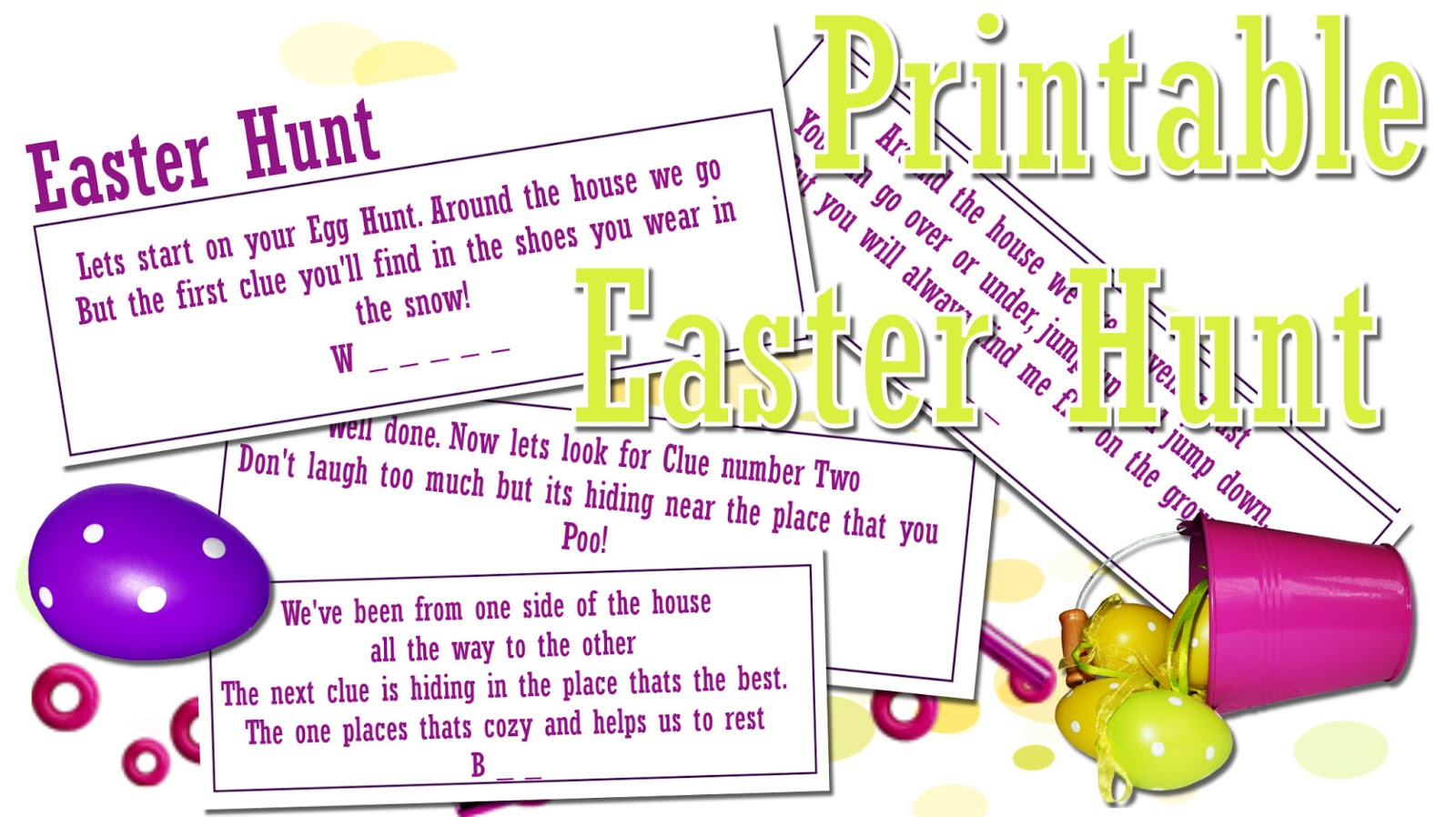 This Is Me Sarah Mum Of 3: Fun Easter Egg Hunt - Print Out! - Easter Scavenger Hunt Riddles Free Printable