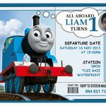 Thomas Birthday Invites 9 Train Birthday Invitations For Kid Free   Thomas Invitations Printable Free