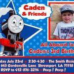 Thomas The Tank Engine Train Printable Diy Birthday Party Invitation   Thomas Invitations Printable Free