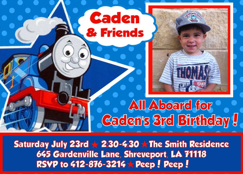 Thomas The Tank Engine Train Printable Diy Birthday Party Invitation - Thomas Invitations Printable Free