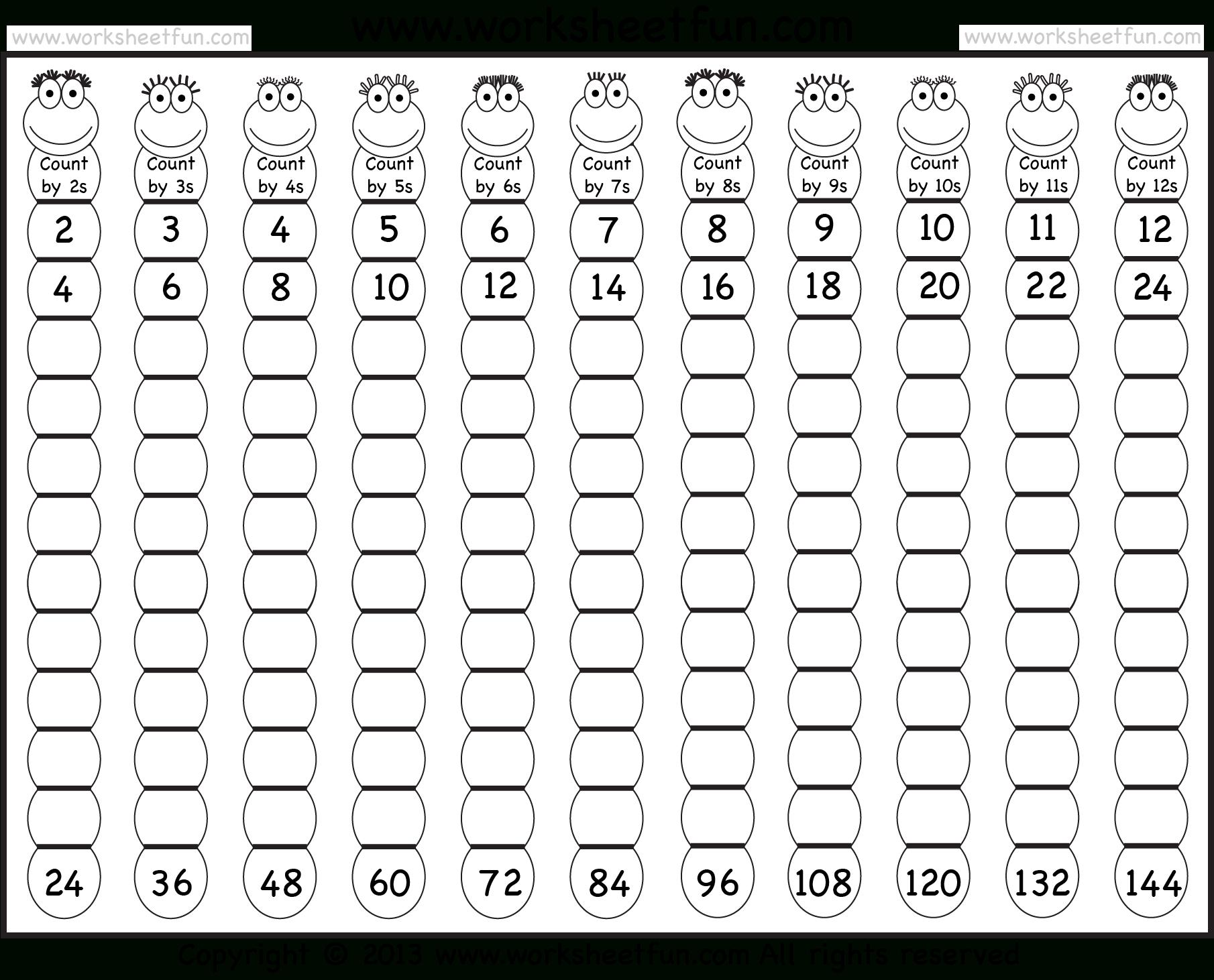 Times Table – 2-12 Worksheets – 1, 2, 3, 4, 5, 6, 7, 8, 9, 10, 11 - Free Printable Skip Counting Worksheets