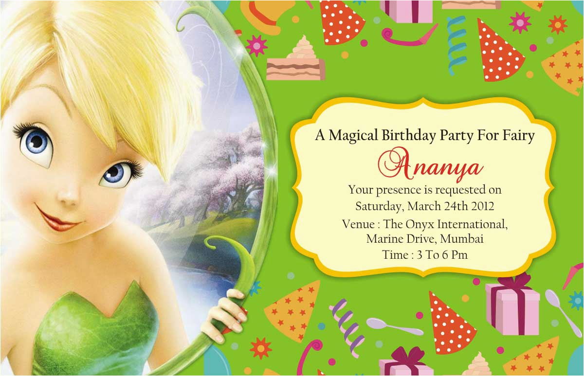 Tinkerbell Birthday Cards Free Tinkerbell Birthday Party Invitations - Free Tinkerbell Printable Birthday Invitations