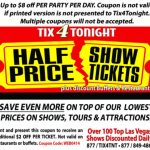 Tix4Tonight Coupon: Up To $8 Off (Expired)   Just Vegas Deals In   Free Las Vegas Buffet Coupons Printable