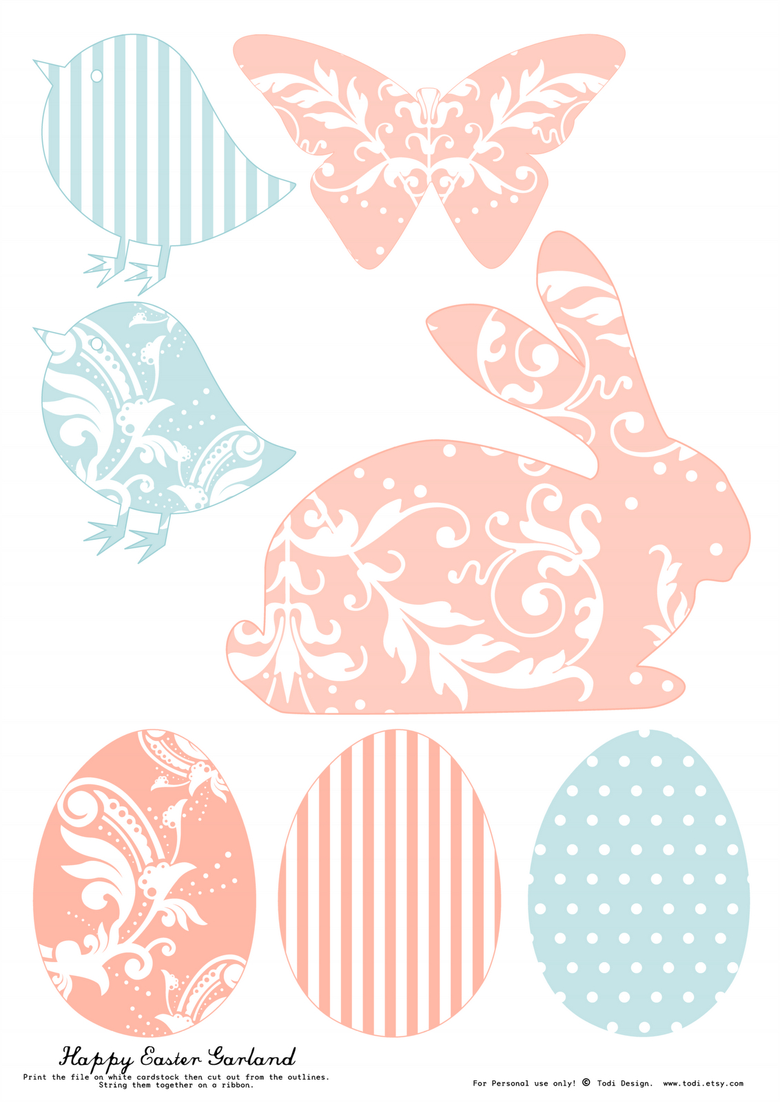 Todi: Free Printables For Easter Decoration. Th Print Used For This - Free Printable Easter Images