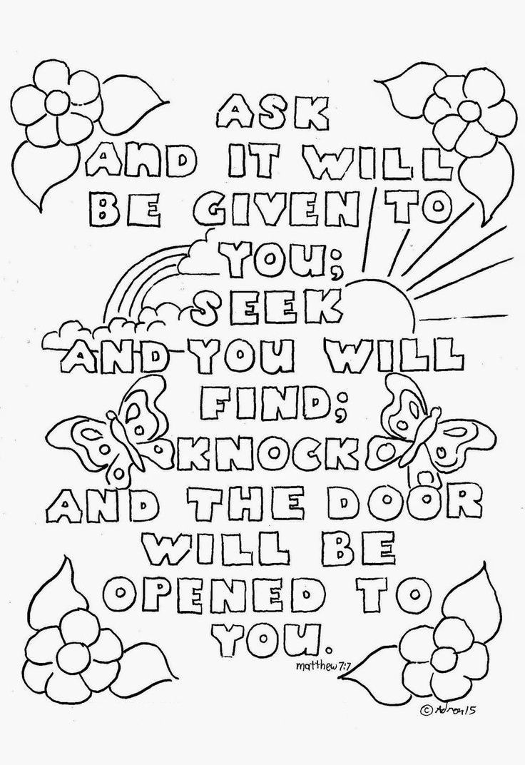 Top 10 Free Printable Bible Verse Coloring Pages Online | Coloring - Free Printable Bible Story Coloring Pages