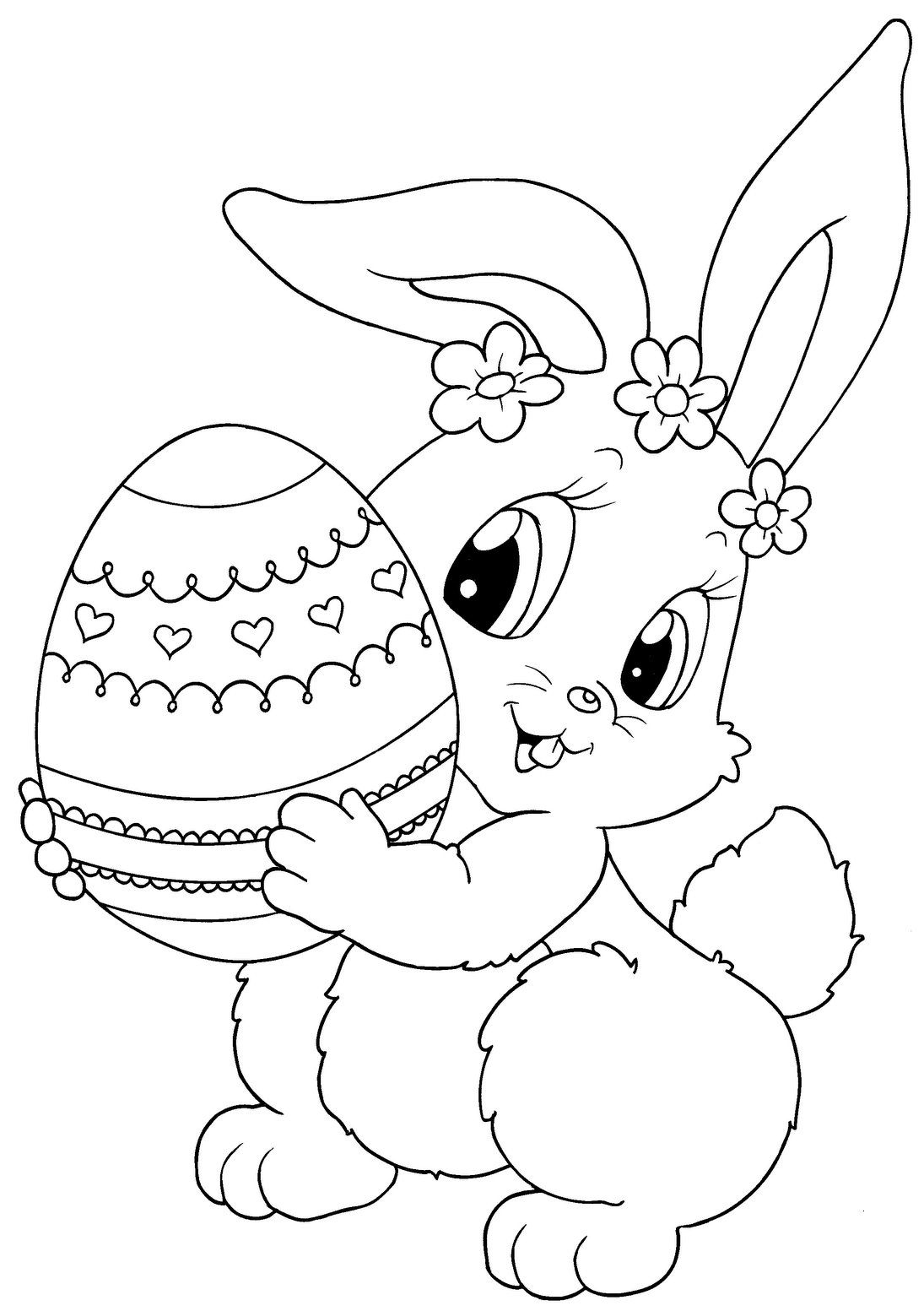 Top 15 Free Printable Easter Bunny Coloring Pages Online | Зентангл - Free Printable Easter Colouring Sheets