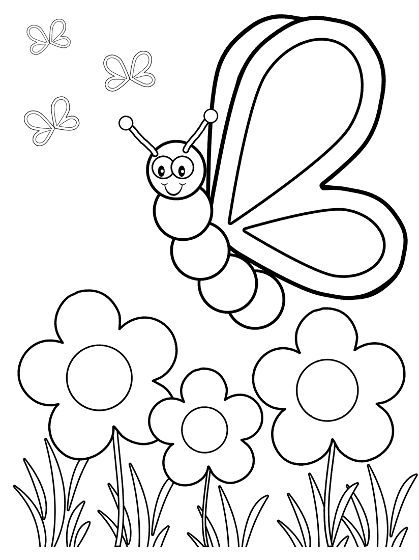Top 50 Free Printable Butterfly Coloring Pages Online | Baby/kid - Free Printable Spring Pictures To Color