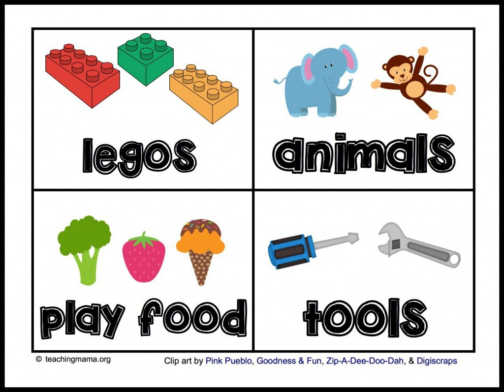 Toy Room Organization & Free Toy Bin Labels - Free Printable Classroom Labels For Preschoolers