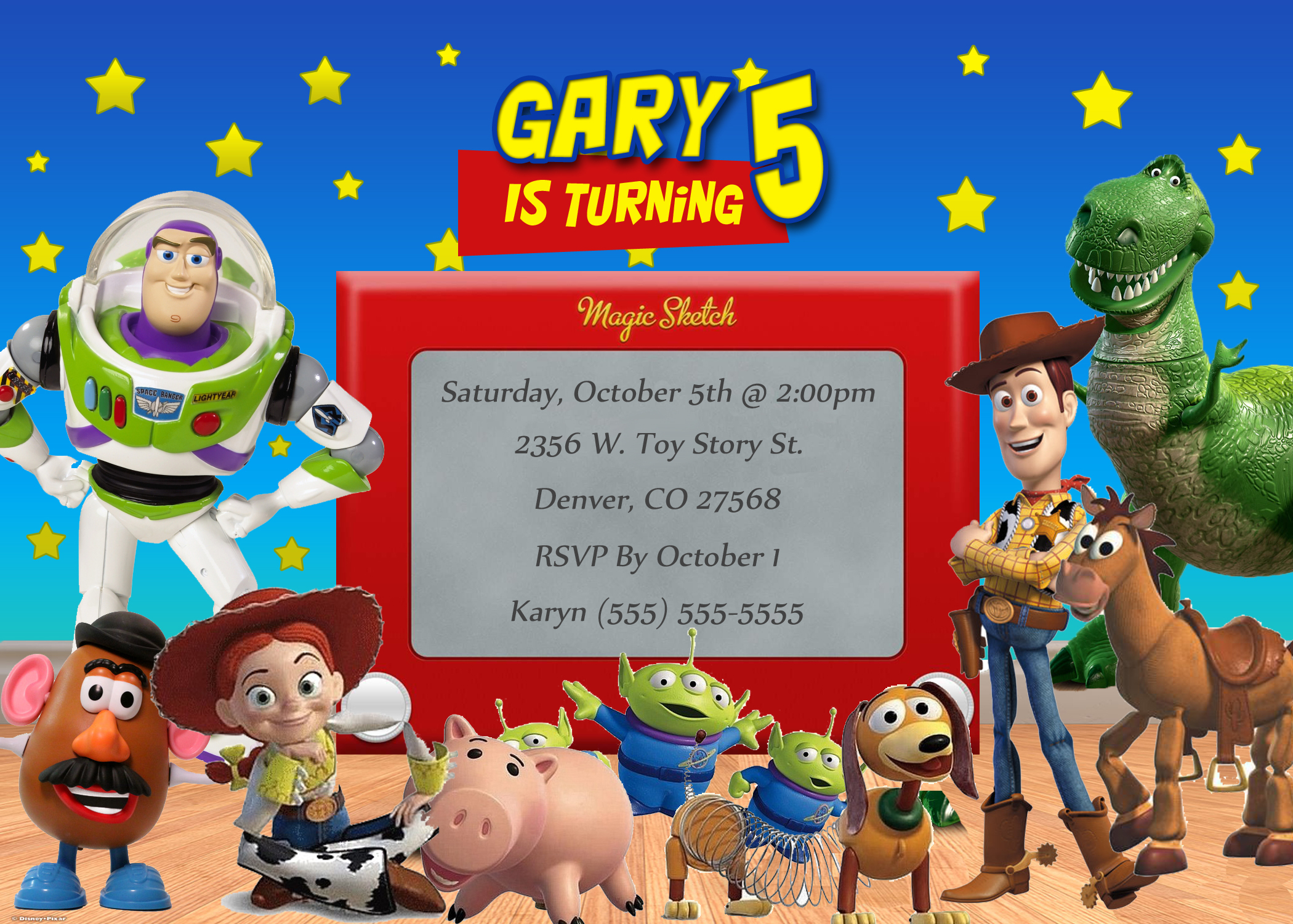 Toy Story Birthday Invitation | Kustom Kreations - Free Printable Toy Story 3 Birthday Invitations