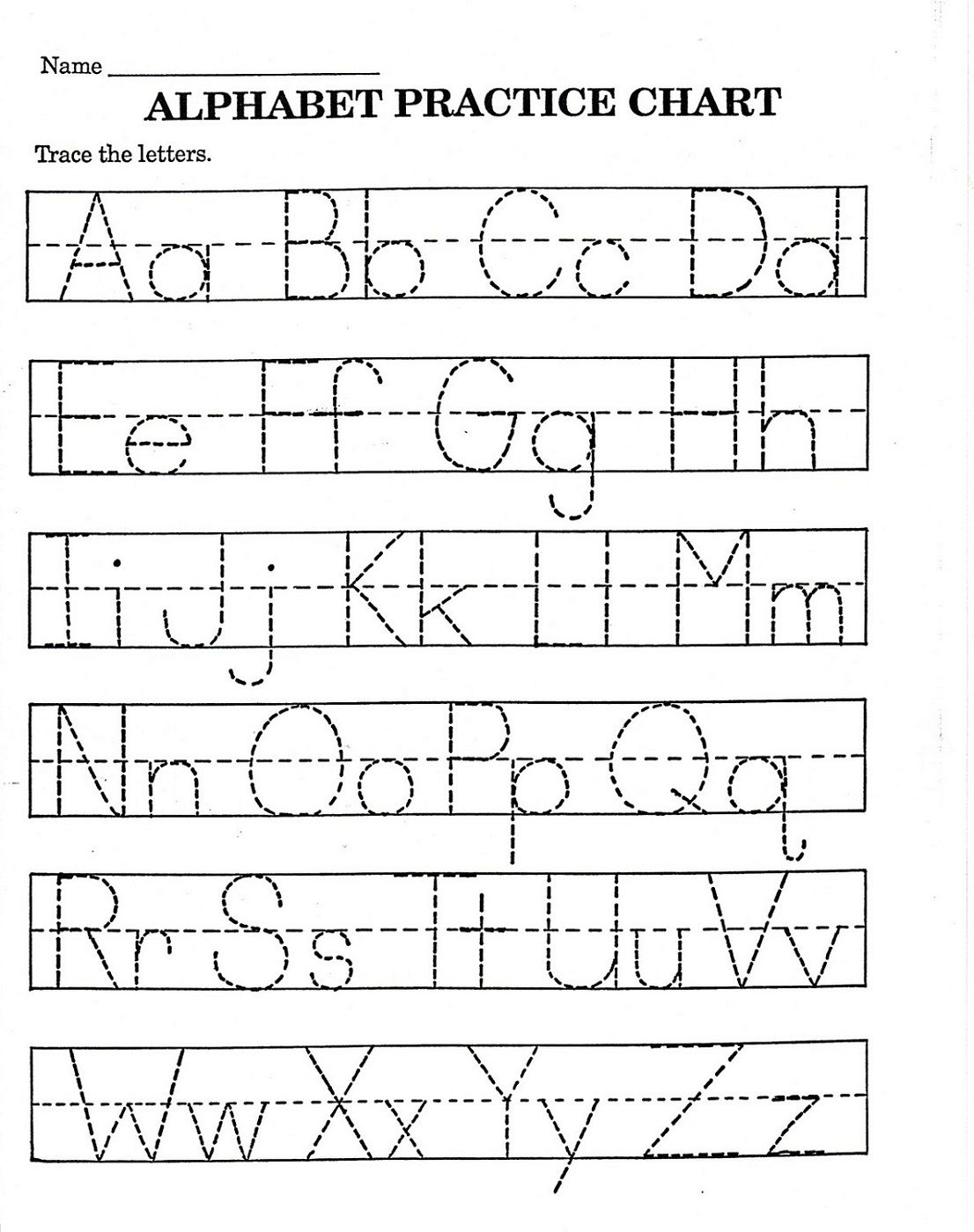 Trace Letter Worksheets Free | Reading And Phonics | Alphabet - Free Printable Alphabet Worksheets
