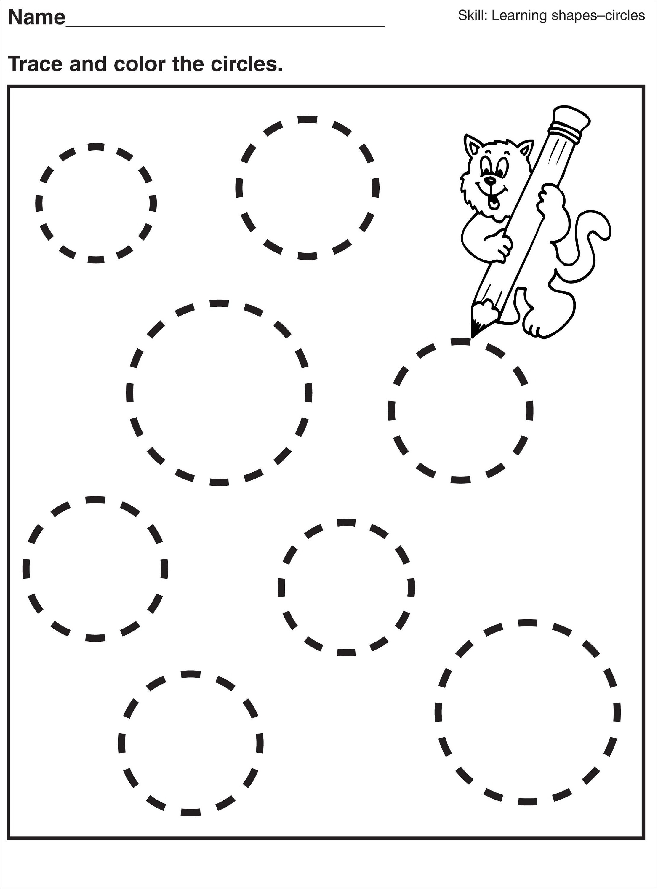Tracing Pages For Preschool | Kids Worksheets Printable | Preschool - Free Printable Preschool Name Tracer Pages