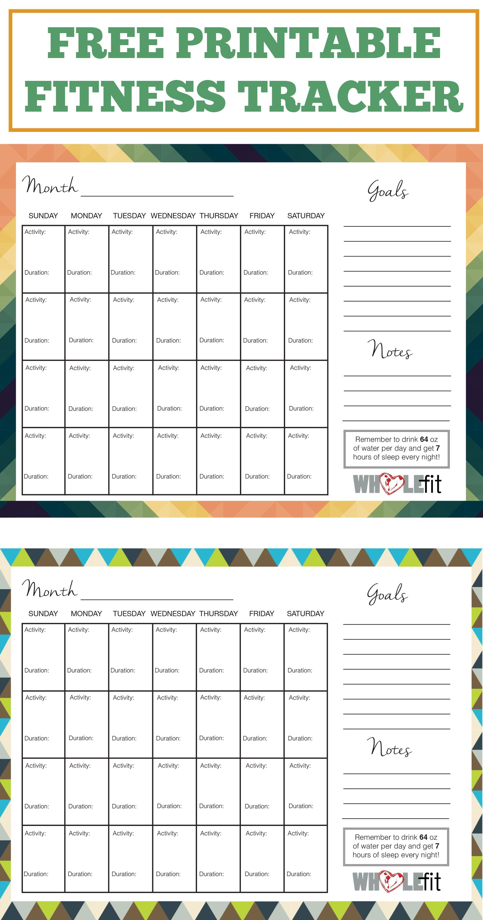 Track Your Progress With These Free Printable Fitness Trackers - Free Printable Fitness Tracker
