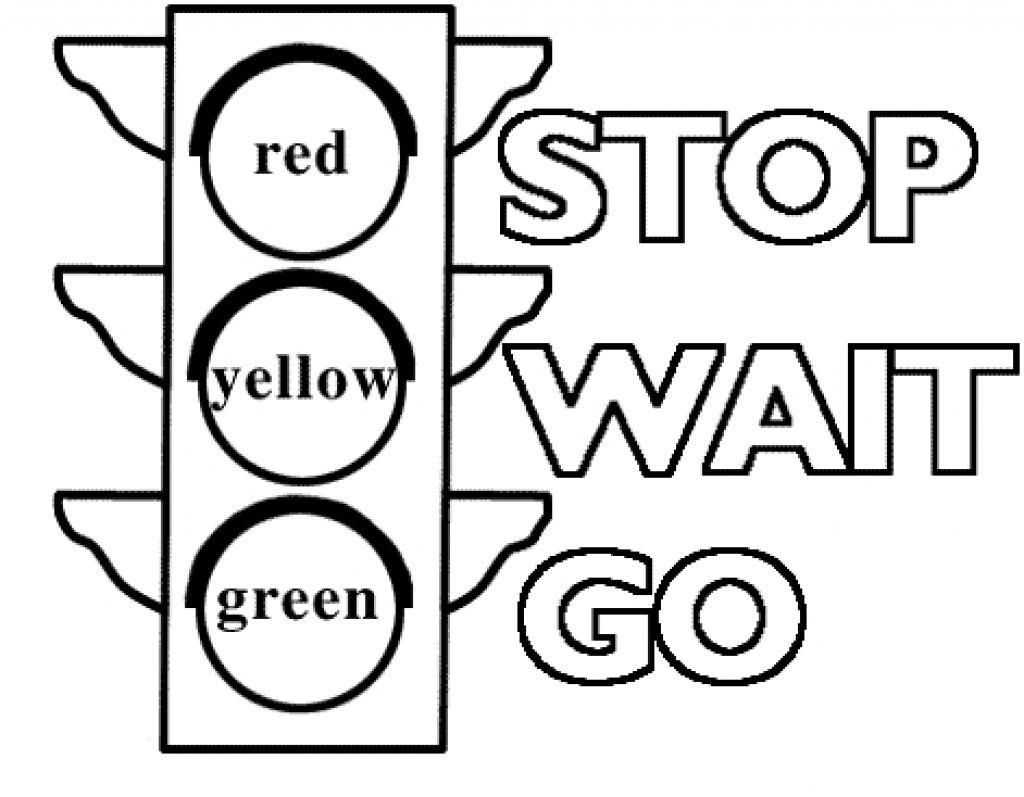 Traffic Light Signs Coloring Pages Printable Coloring Pages For - Free Printable Stop Sign To Color